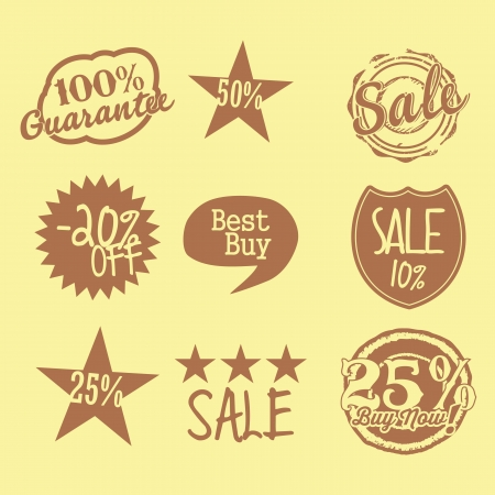 Sale labels one color Stock Vector - 16287924