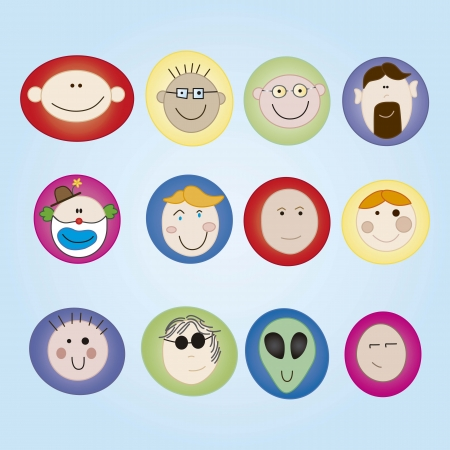 userpic: People Icons colorful faces set