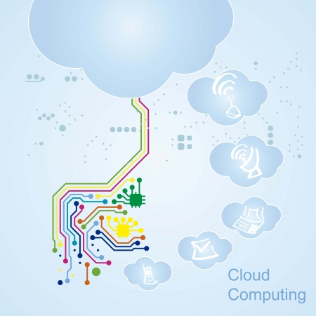 Cloud Computing icons circuit boart Stock Vector - 16287721