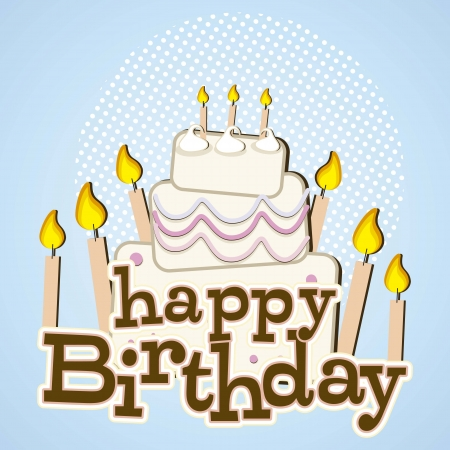 birthday cake with candles Stock Vector - 16288104