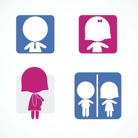 ideograph: People Icons colorful set Illustration