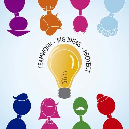 procurement: People Icons team work Illustration