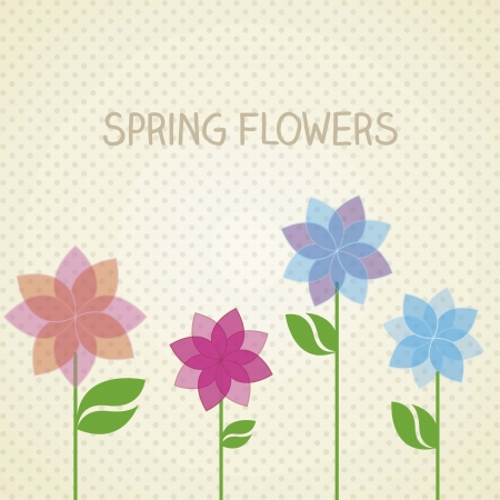 Vintage background with a flowers Stock Vector - 16288746