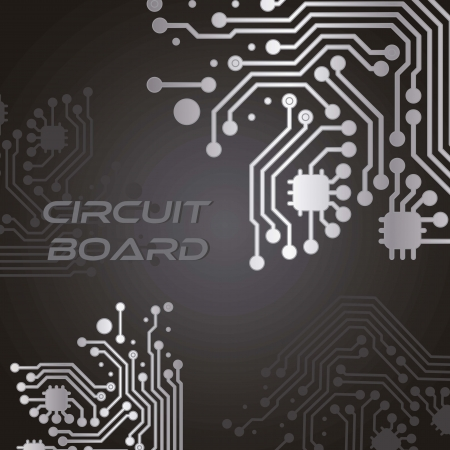 electronic components: Circuit Board black background
