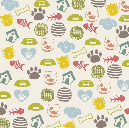 pets icons over beige background. vector illustration Stock Vector - 16404577