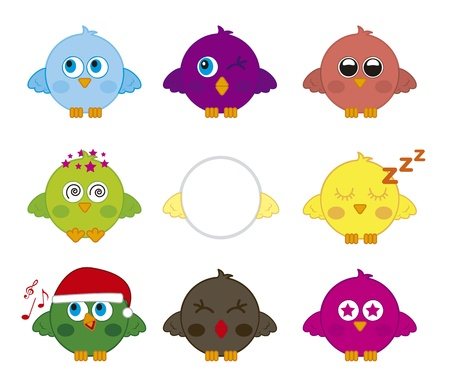 birds icons over white background. vector illustration Vector