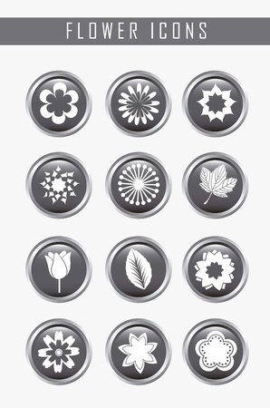 flowers icons over gray background. vector illustration Stock Vector - 16404561