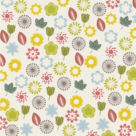flowers icons over beige background. vector illustration Stock Vector - 16404601