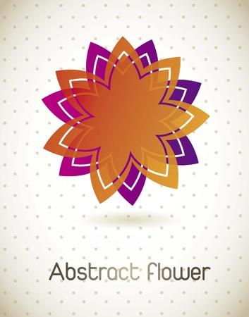 colorful flower over beige background. vector illustration Stock Vector - 16404602