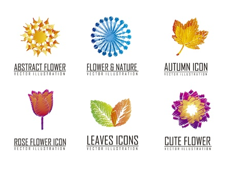 flowers icons over white background. vector illustration Stock Vector - 16404615