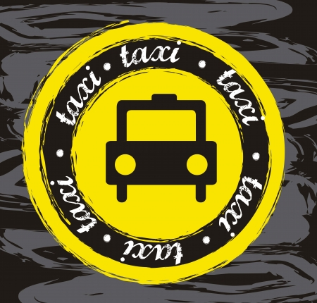 transported: taxi icon over black background. vector illustration
