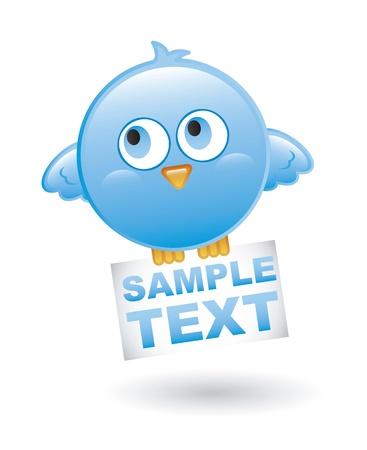 blue bird  over white background. vector illustration Stock Vector - 16404557