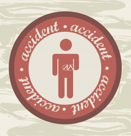 fainted: accident label over grunge background. vector illustration