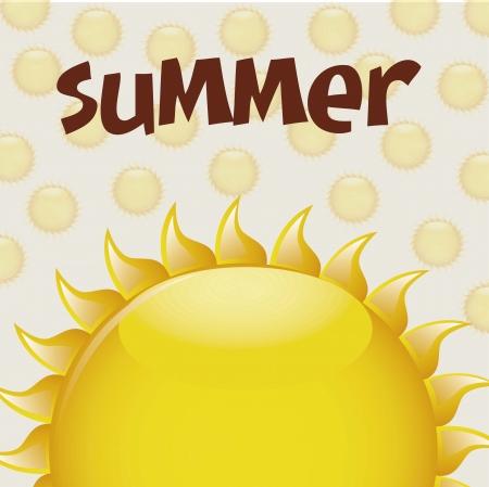 summer sun background vector illustration Stock Vector - 16477037