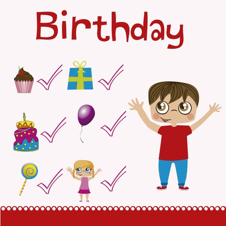 birhday icons over white background vector illustration Stock Vector - 16477027