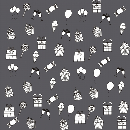 birhday icons over gray background vector illustration Stock Vector - 16477334