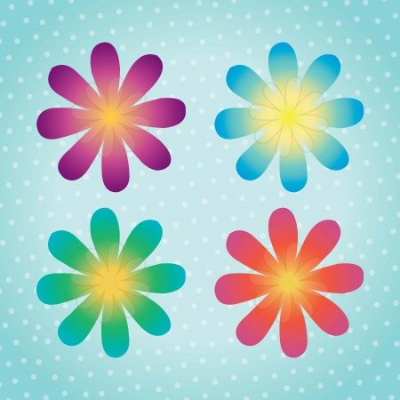 Colorful flowers, background of whiteheads vector illustration Stock Vector - 16476826
