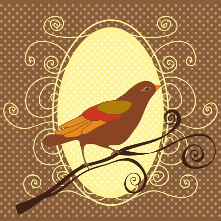 ornithological: Birds icons background of dots vector illustration