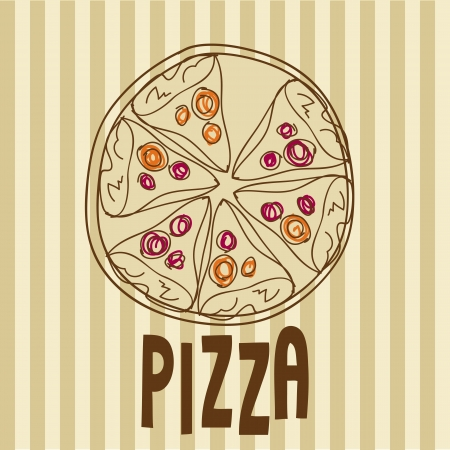 Art, vintage background for pizzeria vector illustration Vector