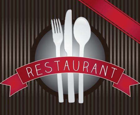 Restaurant icon on dark background vector illustration Stock Vector - 16476837