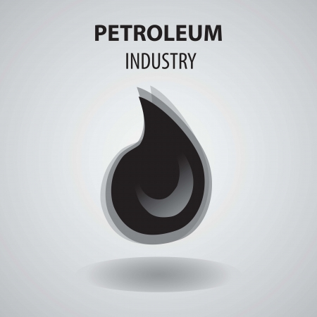 Petroleum Industry Icon, with grey background vector illustration. Stock Vector - 16476556
