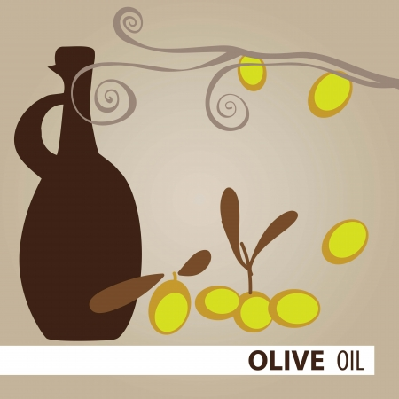 Bottle of olive oil, vector illustration set Vector