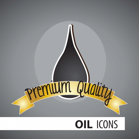 quality product: Oil Icon Premium Quality Product, vector illustration