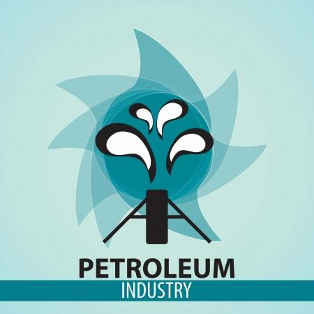 oilfield: Icon Oilfield with blue background, vector illustration. Illustration