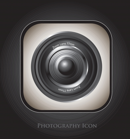 a large camera lens over black background Stock Vector - 16700588