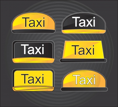 icons taxi over black background vector illustration Vector