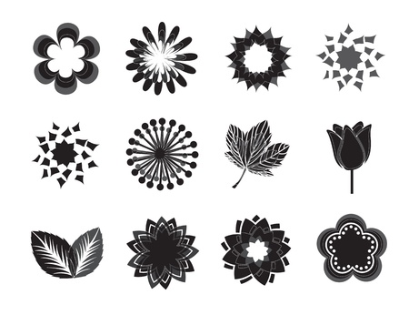 background of flowers over white background vector illustration Stock Vector - 16702637
