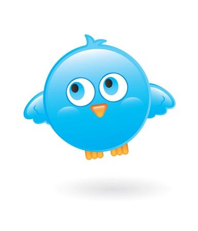 blue bird over white background vector illustration Stock Vector - 16700539
