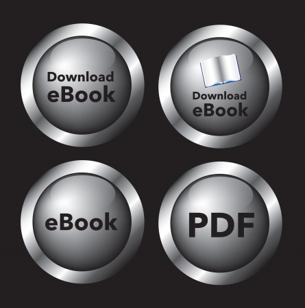 download buttons over black background vector illustration   Vettoriali