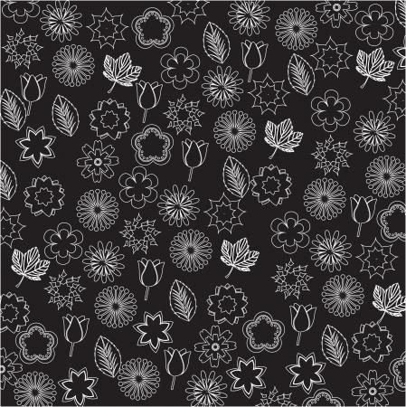 backkground: beauty background of white flowers vector illustration