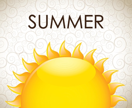 summer icon over vintage background vector illustration Stock Vector - 16702815