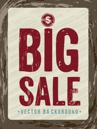 annoucement: big sale annoucement, vintage style. vector illustration