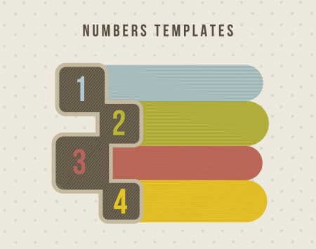 four numbers templates, vintage style. vector illustration Stock Vector - 16702522