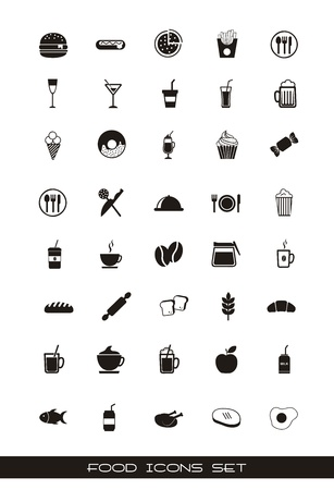 food icons over white background. vector illustration Stock Vector - 16701950