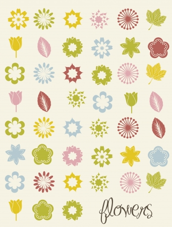 flowers icons over beige background. vector illustration Stock Vector - 16702708