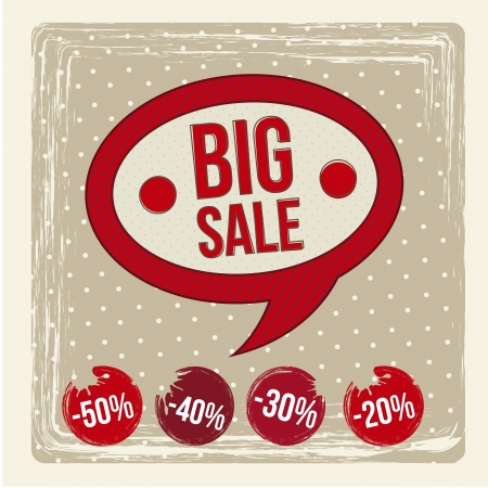 big sale label over beige background. vector illustration Stock Vector - 16703302