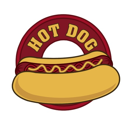 hot dog sign over white background. vector illustration Vector