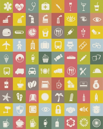 fast money: silhouettes icons, vintage style. vector illustration