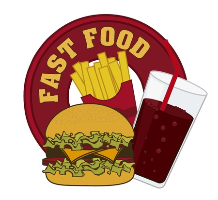 fast food symbol over white background. vector illustration Vector