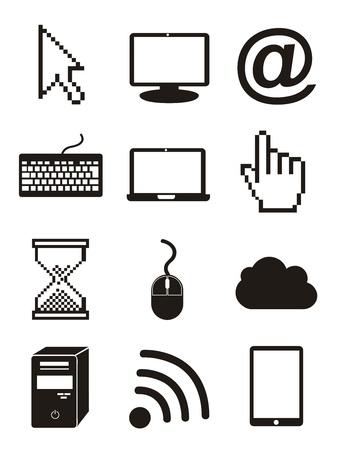 los iconos de ordenador sobre fondo blanco. ilustración vectorial Ilustración de vector