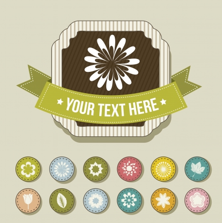 flowers icons over beige background. vector illustration Stock Vector - 16702631