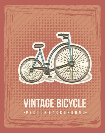 vintage bike announcement, vintage style. vector illustration Vector