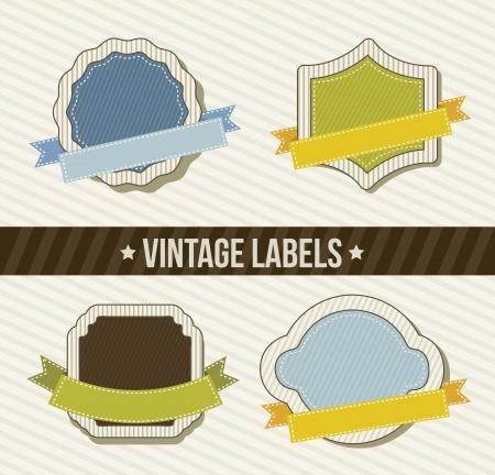 vintage labels over beige background. vector illustration Stock Vector - 16702638