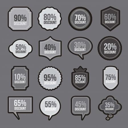 premium member: discount labels over gray background. vector illustration Illustration
