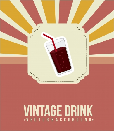 quench: cola drink announcement, vintage style. vector illustration