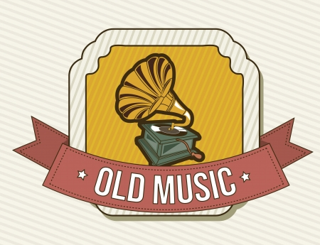 gramophone over vintage background. vector illustration Vector